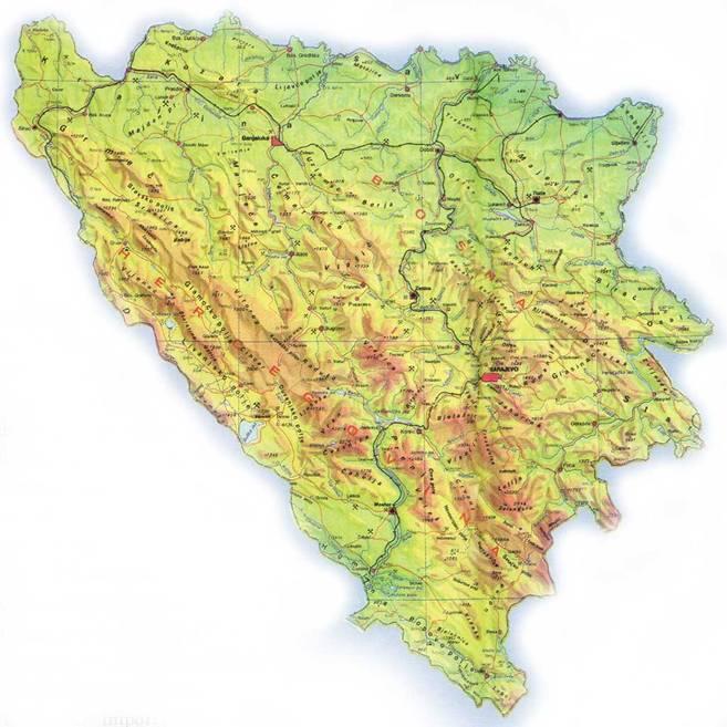 Karte Bosne I Hercegovine
